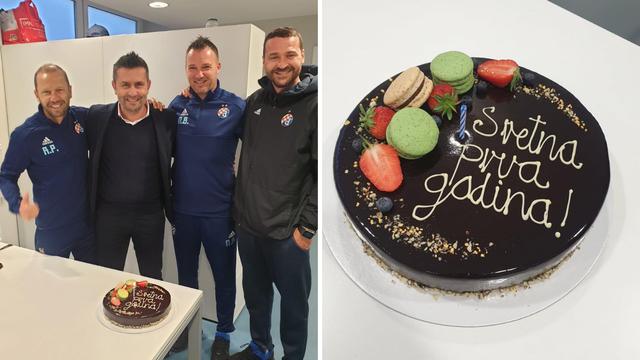Dinamo Bjelici tortom čestitao prvi rođendan na klupi 'plavih'