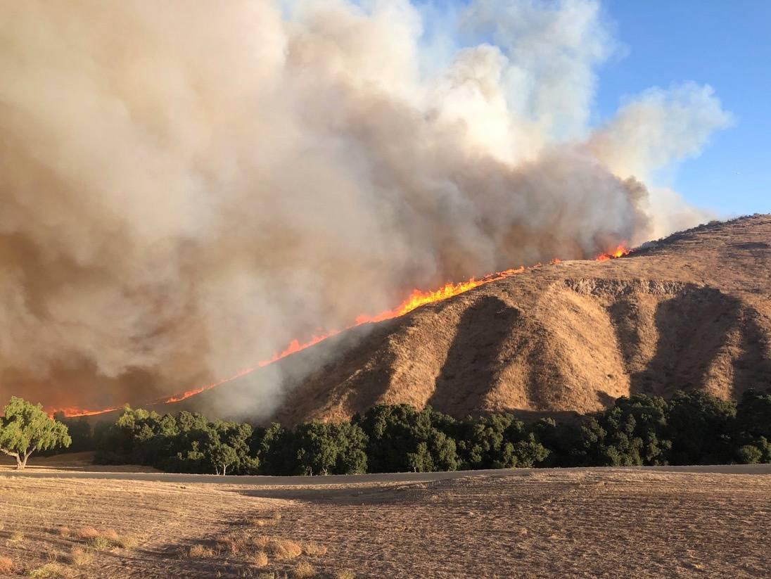 Social media image of fire in Simi Valley, California