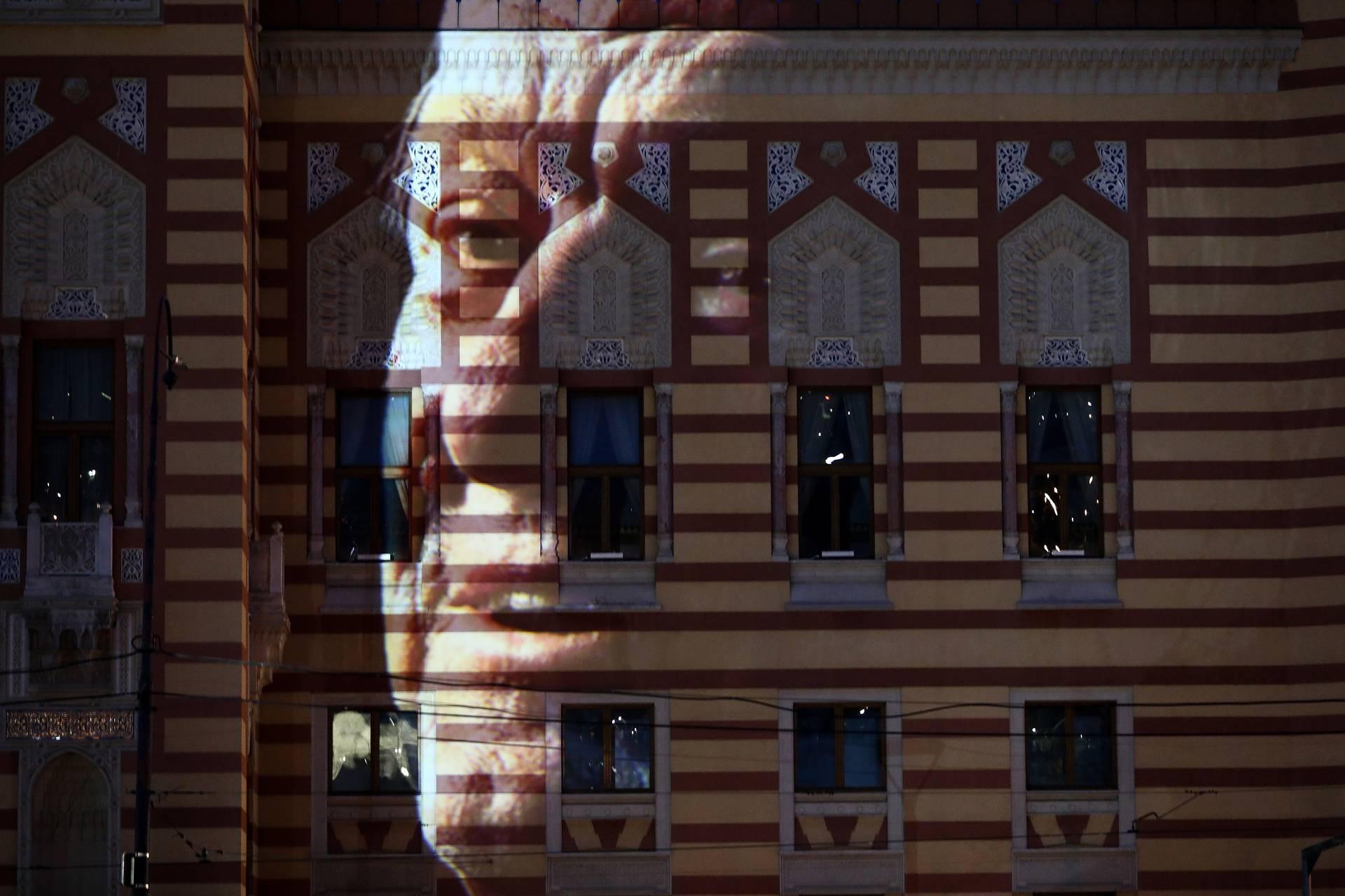 Na zgradi sarajevske Vijećnice projekcija u čast Jovana Divjaka