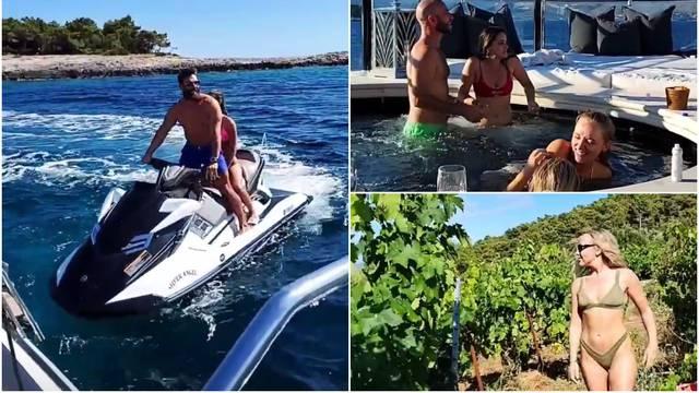 Milijunaš i društvo neumorno uživaju: Nakon plaže u vinograd