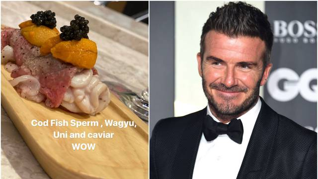 Beckhama oduševila japanska kuhinja, jeo spermu bakalara