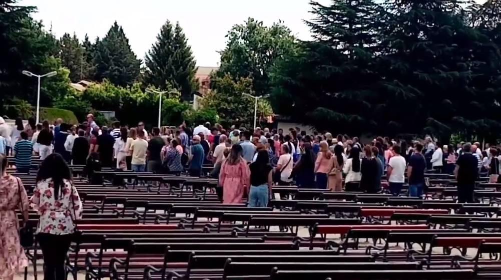 Nakon tri mjeseca više stotina vjernika na misi u Međugorju