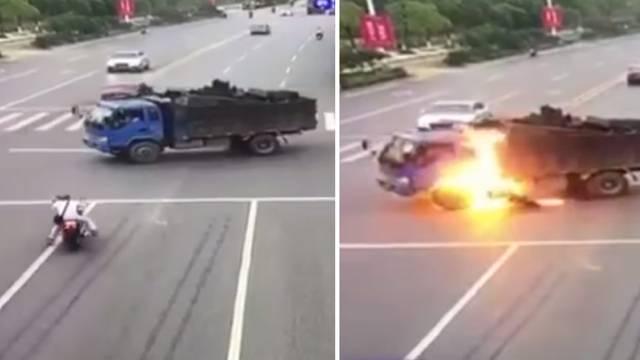 'Morao sam ga spasiti, nije me bilo briga što mi kamion gori...'