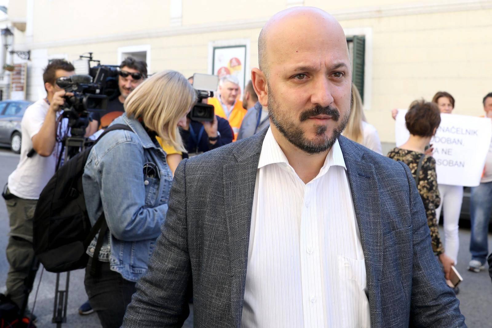 Zagreb: Predsjednik gradskog SDP-a Gordan Maras održao konferenciju