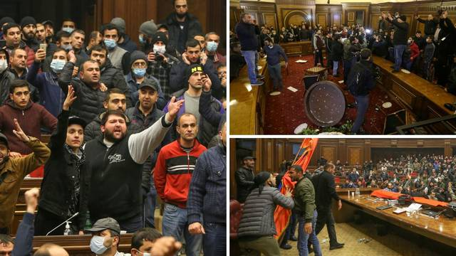 Kaos u Armeniji: Građani upali u Vladu, porazbijali sve što su vidjeli, pretukli šefa parlamenta
