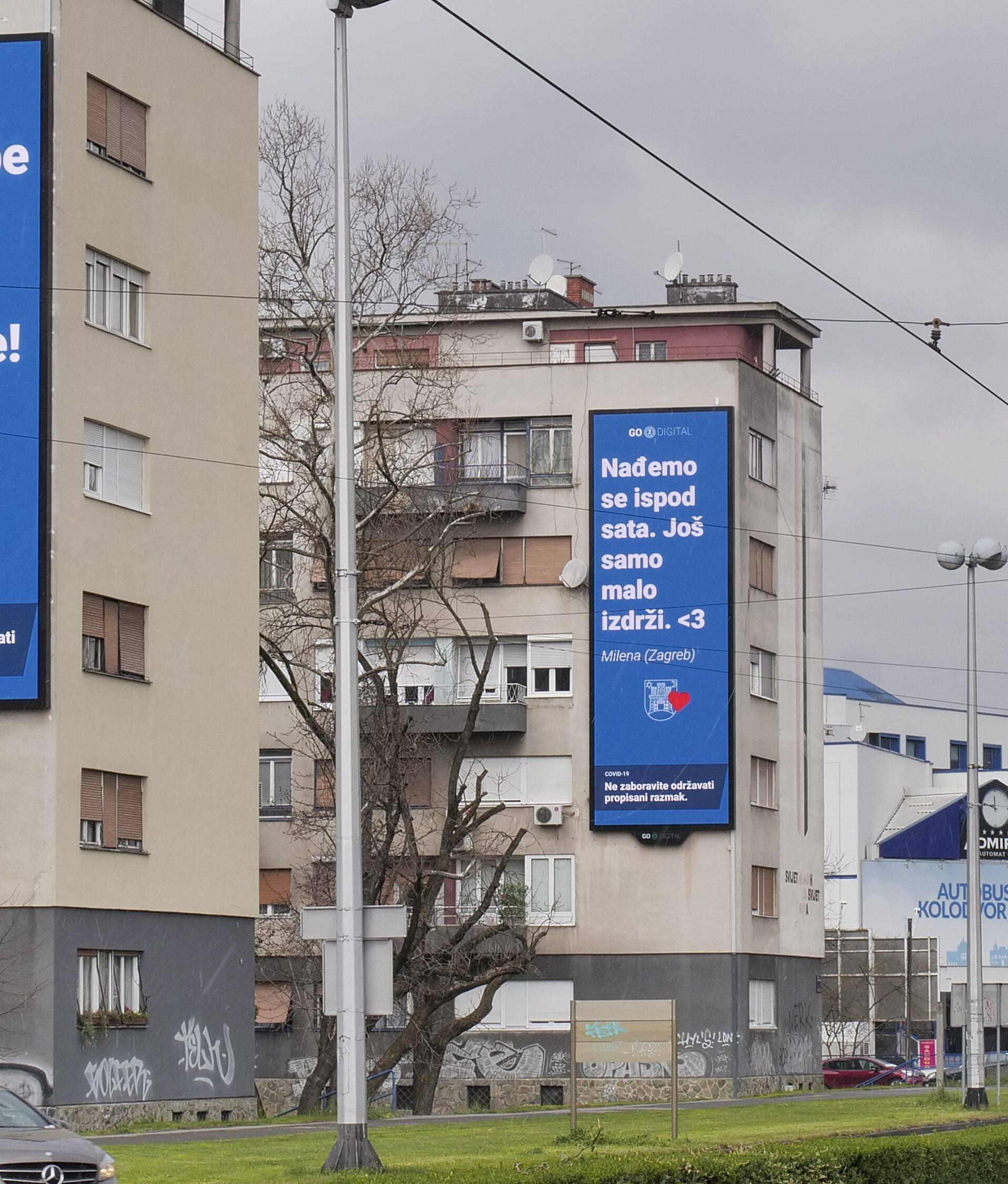Pošalji poruku i podrži Zagreb, bit će objavljene po gradu