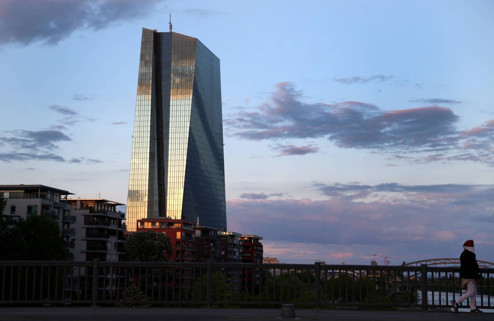 FILE PHOTO: The headquarters of the European Central Bank in Frankfurt, Germany,