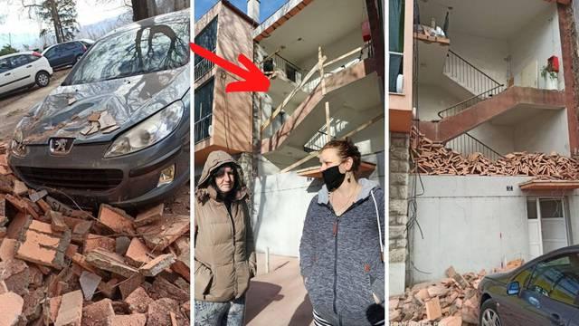 Zgrada u Kninu ostala bez zida, stanari u šoku: 'Susjeda je bila u panici, zid se rušio pred njom'