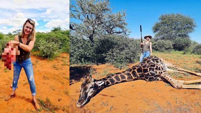 Ustrijelila žirafu, izvadila joj srce i pozirala: 'Na ovo sam čekala 5 godina, divan poklon'