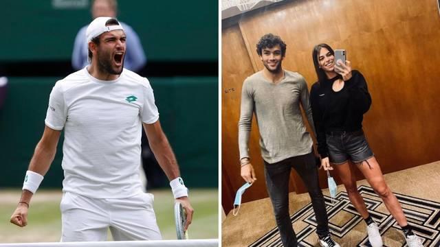 Prvi je Talijan koji je stigao do finala Wimbledona, a s tribina ga bodri prelijepa Zagrepčanka