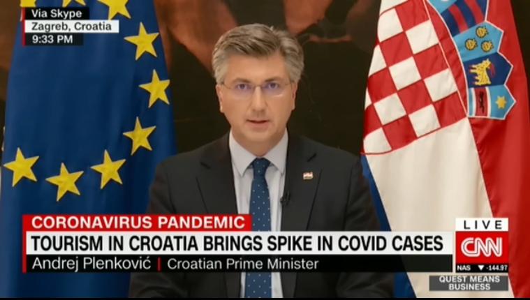 Plenković: Otvaranje sezone i  turizma bio je kalkulirani rizik