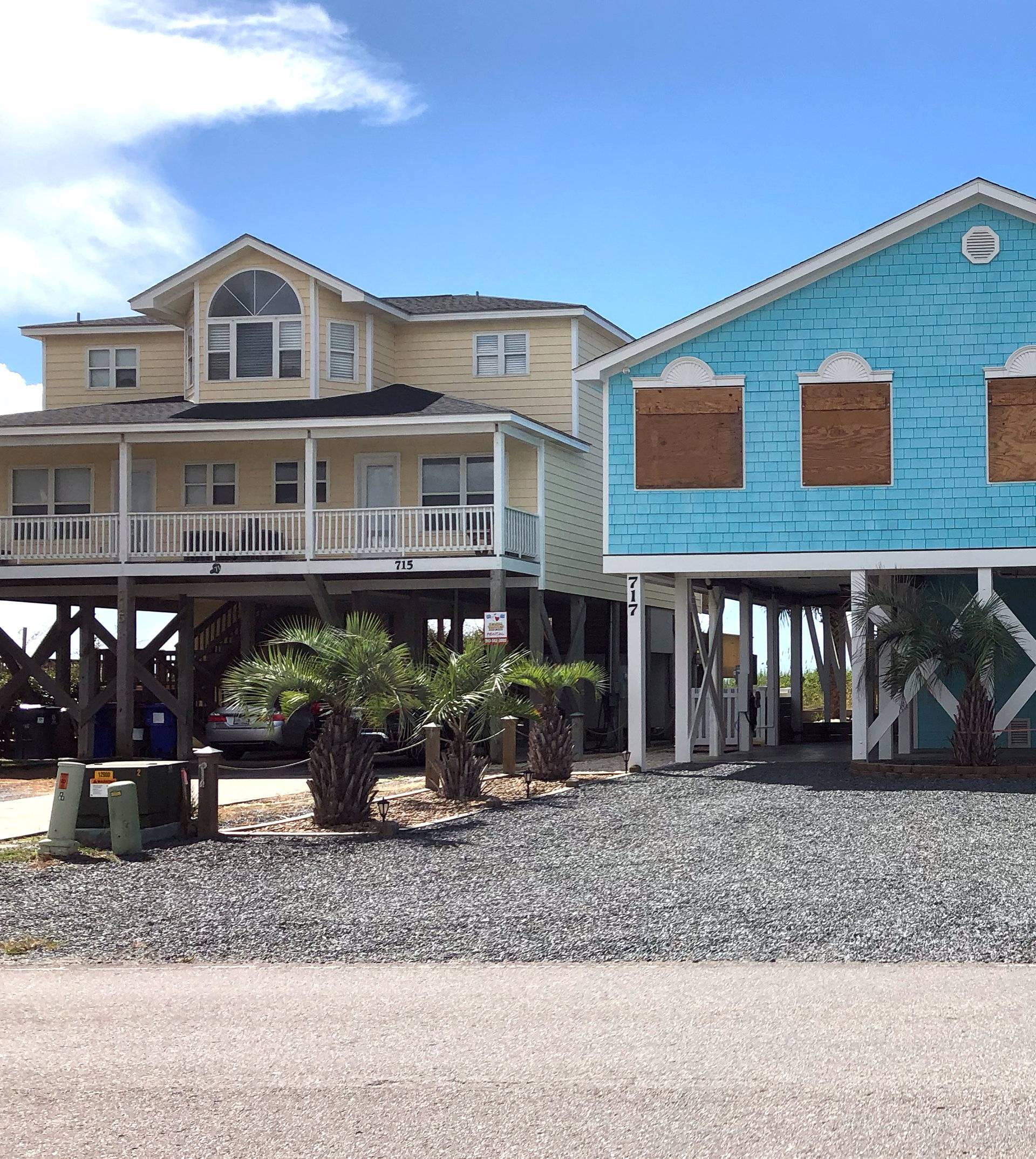Boarded up houses are seen ahead of Hurricane FlorenceÕs expected landfall at Holden Beach