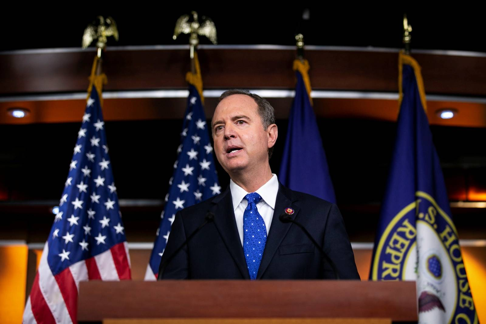 U.S. House Intelligence Committee Chairman Adam Schiff (D-CA) speaks during a news conference at the U.S. Capitol