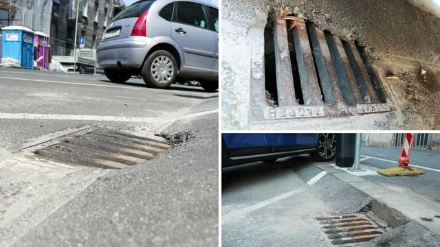 Šahtovi začepljeni asfaltom, a sutra novo nevrijeme u Zagrebu