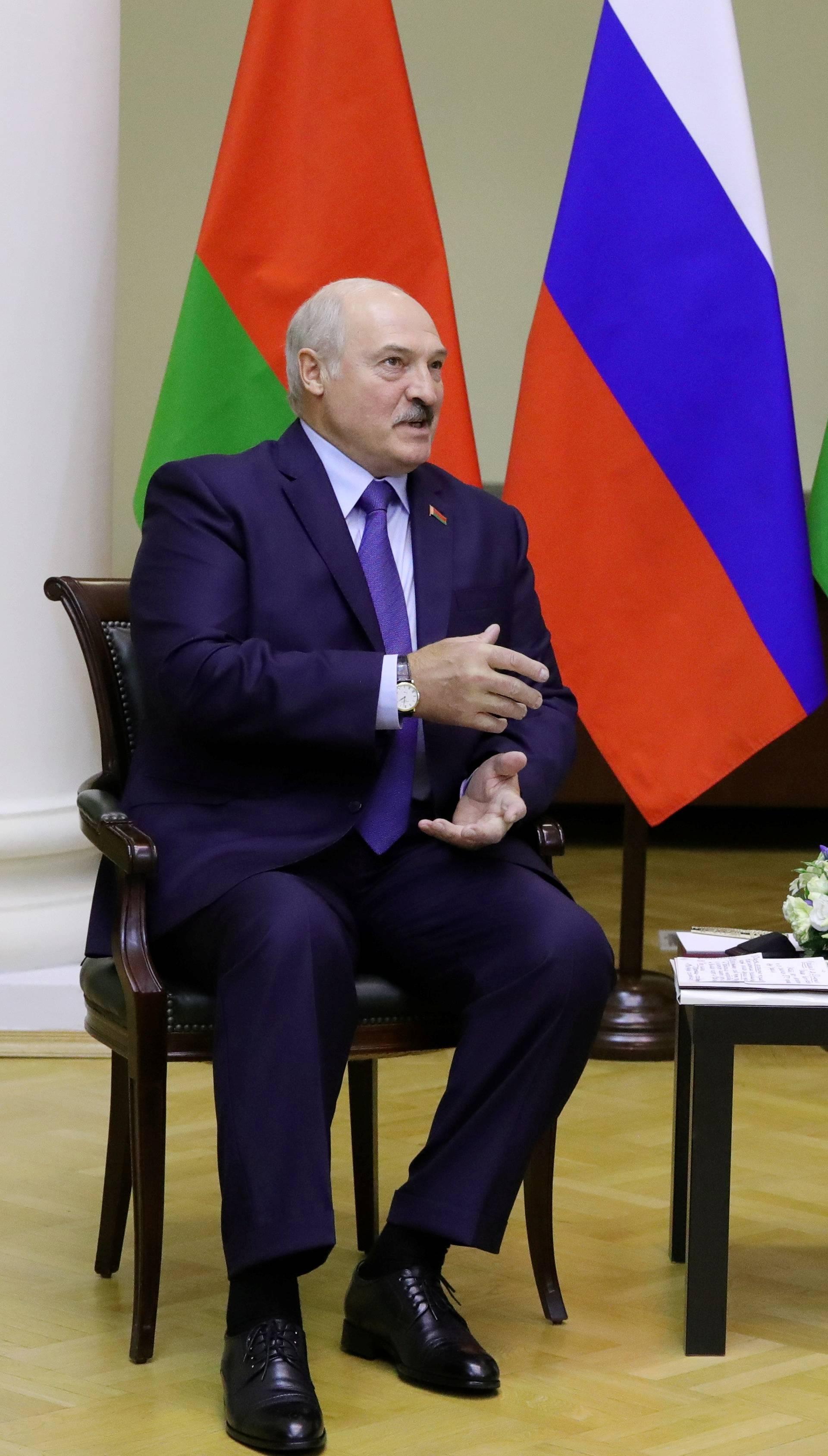 Russia's President Putin meets his Belarusian counterpart Lukashenko in Saint Petersburg
