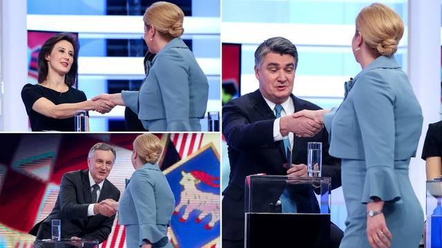 Galerija fotki: Pernar i Peović nisu htjeli dati ruku Kolindi...
