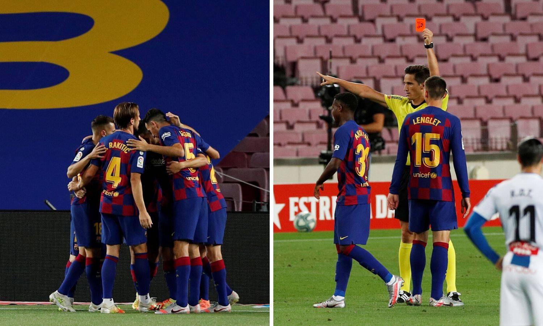 Divljački prekršaji u gradskom derbiju: Barca jedva slomila Espanyol i poslala ga u Segundu