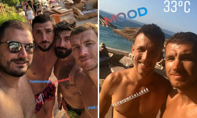 Džeko čeka transfer u Inter i uživa s Perišićem u Dubrovniku