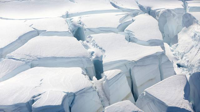 FILE PHOTO: A glacier is seen in Half Moon Bay, Antarctica