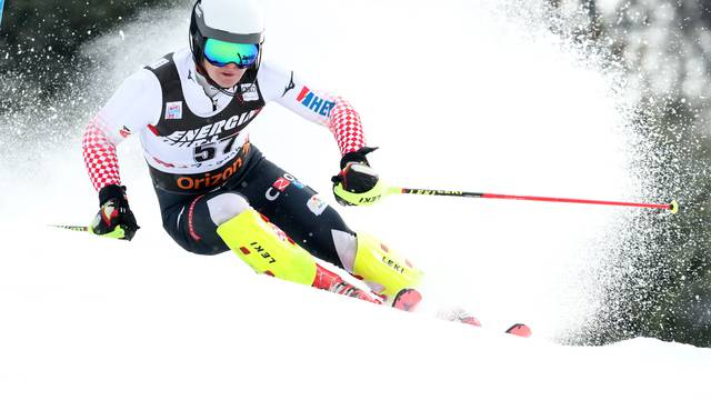 Zagreb: Hrvatski skijaši u prvoj vožnji muškog slaloma Snow Queen Trophy 2019.