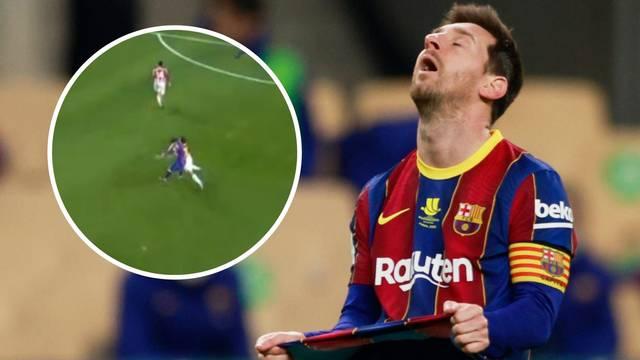 Messi izgubio živce, pljusnuo suparnika i zaradio prvi crveni u Barci: Bilbao osvojio Superkup!