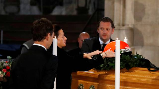 Funeral service for Austrian motor racing greatNiki Lauda at St Stephen's cathedral in Vienna