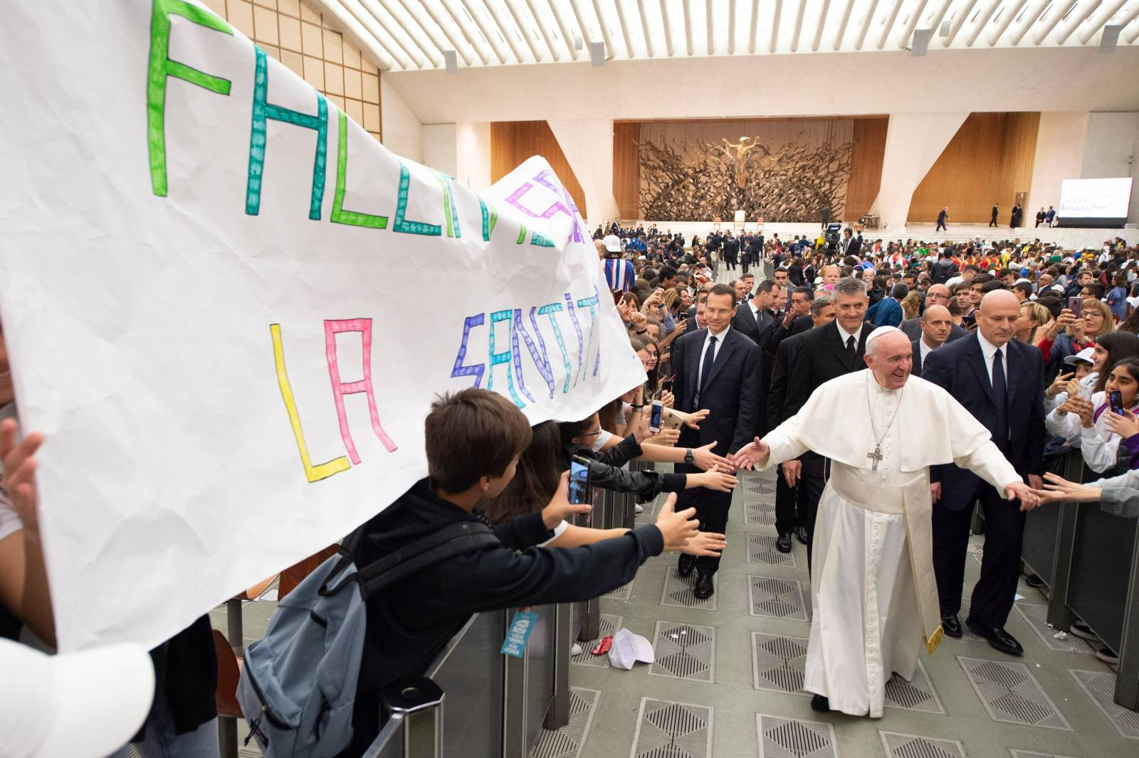 """Audience of Pope Francis with participants of the """"The football that we love"""" meeting at the Vatican"""