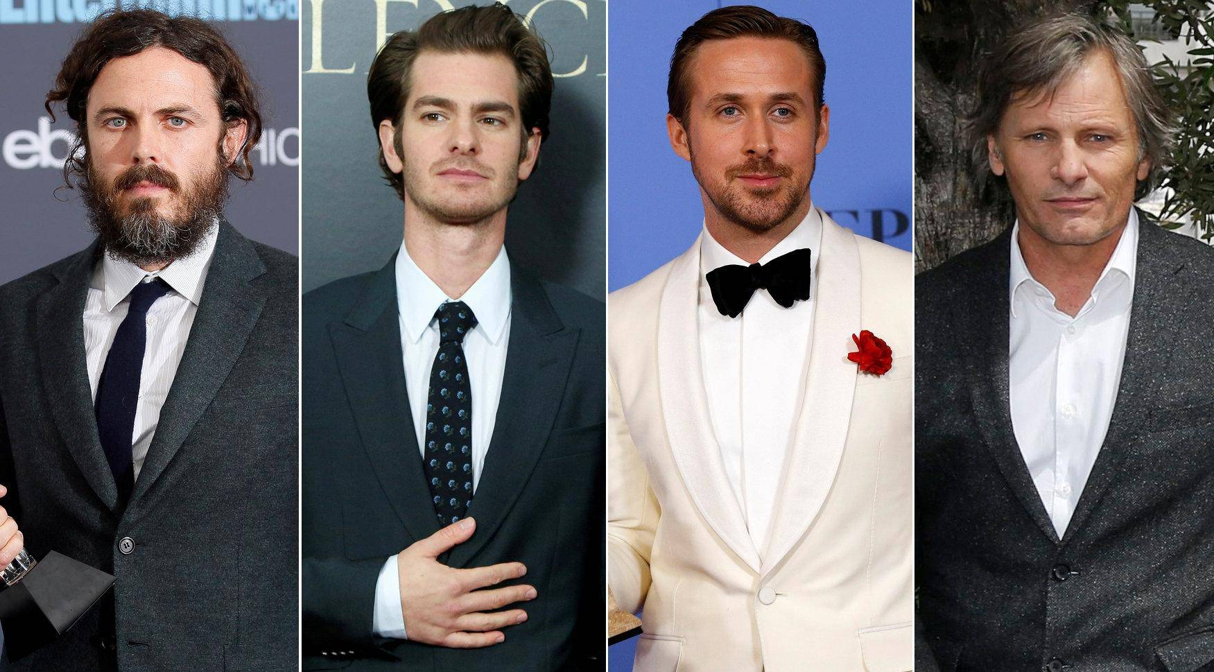 Best actor Oscar nominees for the 89th annual awards Casey Affleck, Andrew Garfield, Ryan Gosling, Viggo Mortensen and Denzel Washington