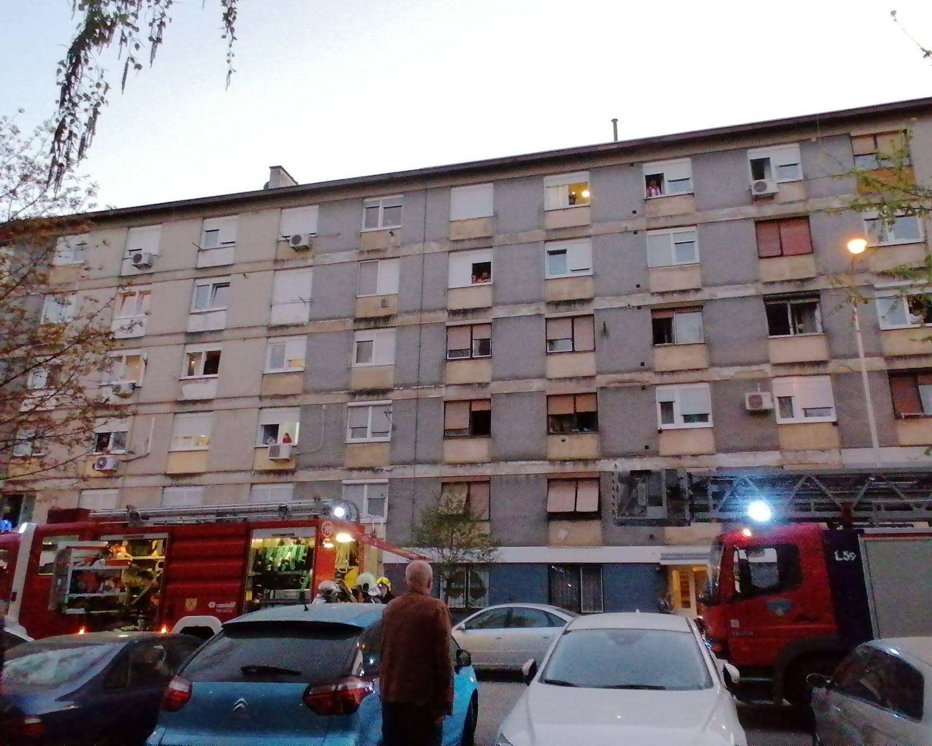 Gorio stan u Trnskom: 'Počelo se jako dimiti iz hodnika...'