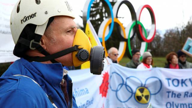 Protest against the holding of the Tokyo Olympic Games under the state of nuclear emergency, in Geneva