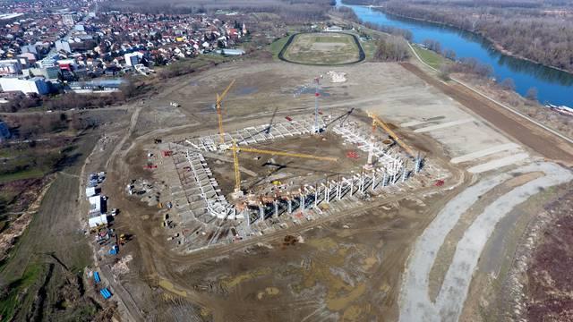 Tko će dočekati? Novi stadion Osijeka nazire se iz zraka...