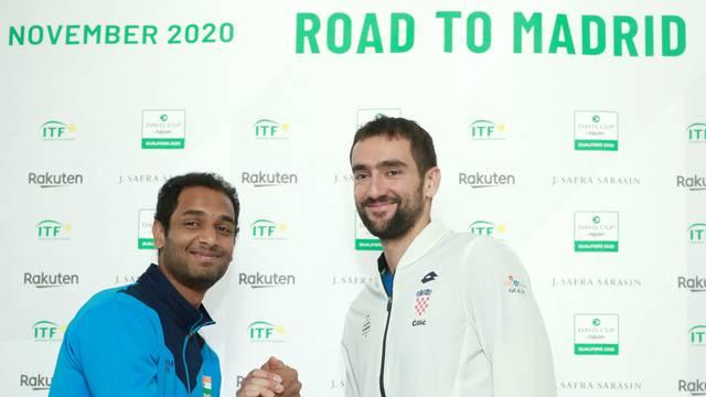 Zagreb: Izvlačanje parova susreta između Hrvatske i Indije u Davisovom kupu