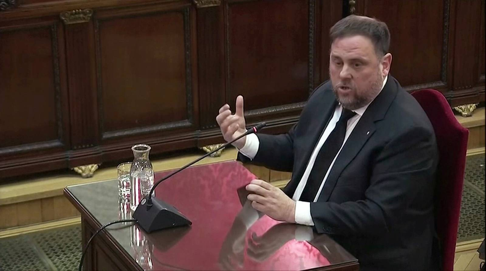 FILE PHOTO: Former Catalan Vice President Junqueras testifies before judges in Madrid