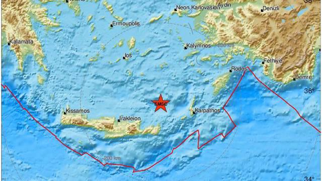 Novi snažni potres u Grčkoj