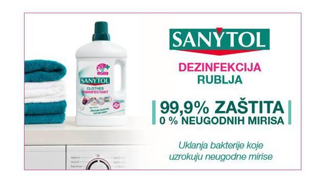 Sanytol za zaštitu i dezinfekciju vašeg  rublja