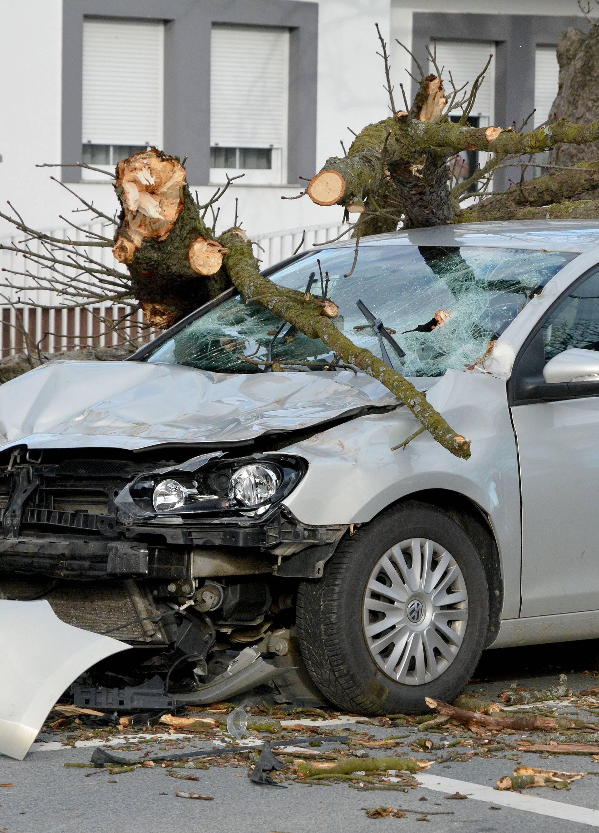 Slavonski Brod: Stablo palo na automobil u vožnji