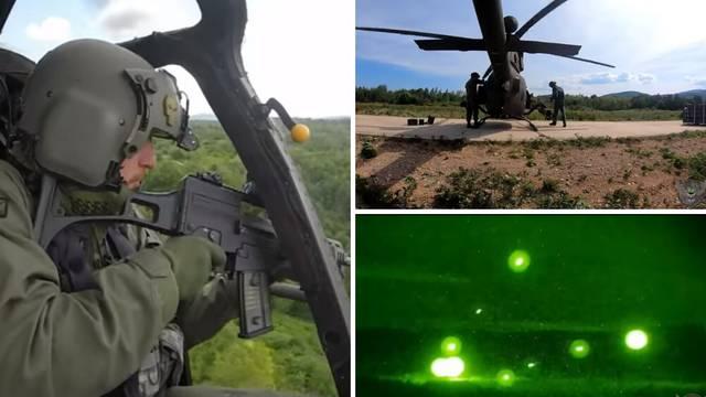 Video iz helikoptera: Hrvatski vojnici raketirali danju i noću