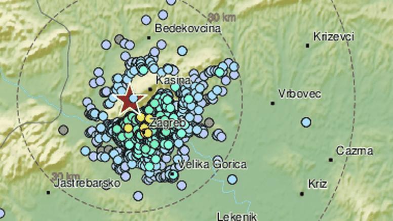 Potres jačine 2.6 po Richteru zatresao Zagreb i okolicu: 'Bilo je kratko, ali poput eksplozije'