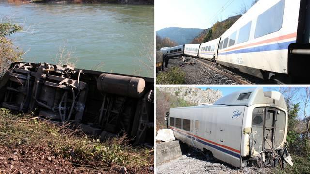 Nalet na stijenu: Mogao je cijeli vlak upasti u hladnu Neretvu...