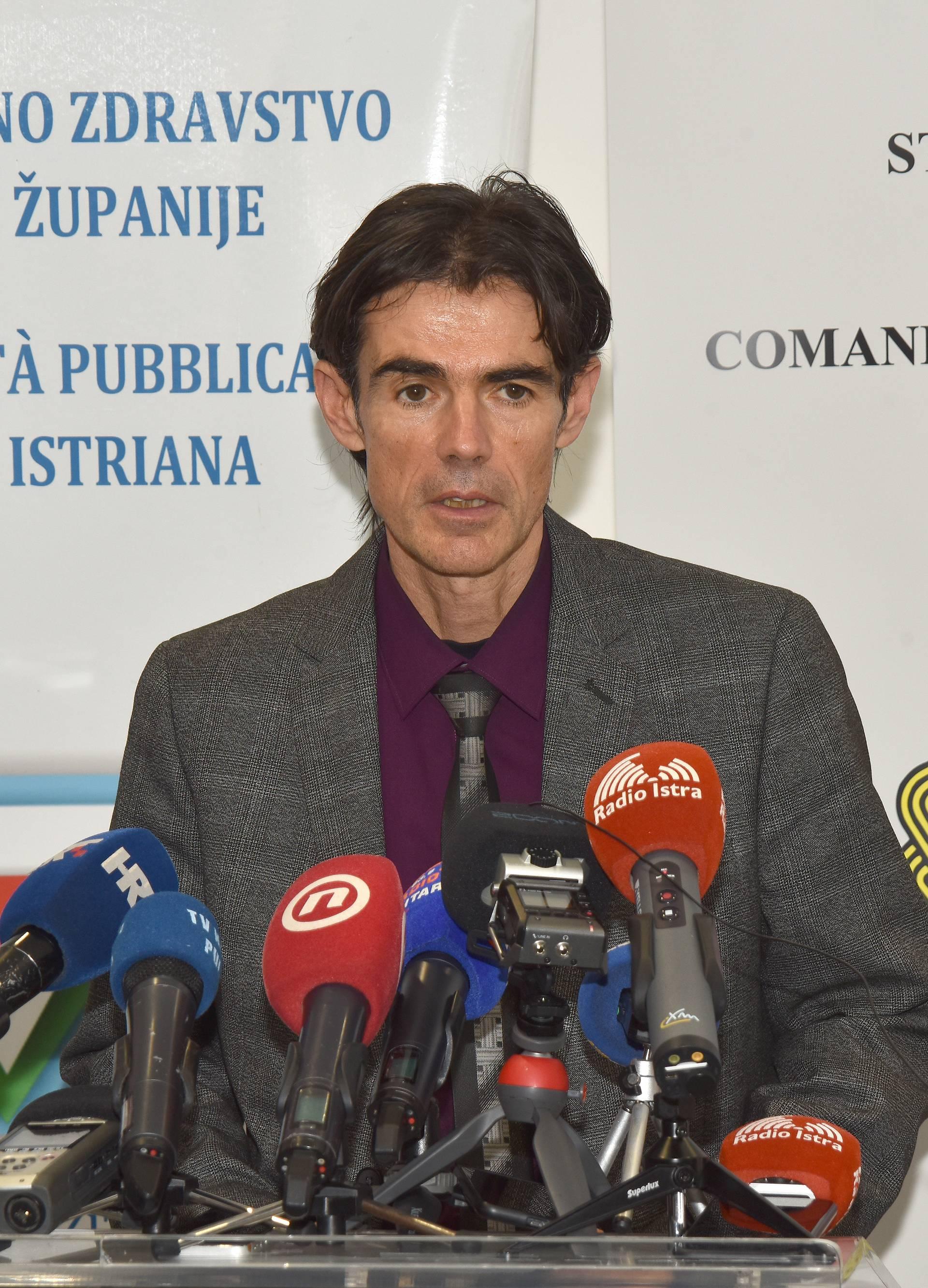 Pula: Konferencija za medije Stožera civilne zaštite Istarske županije