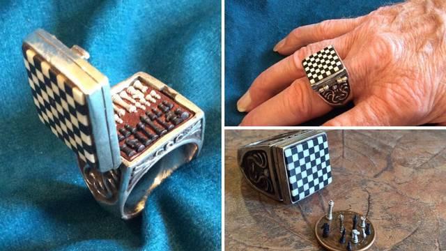 Mini set za šah u predivnom prstenu - trebalo je to napraviti