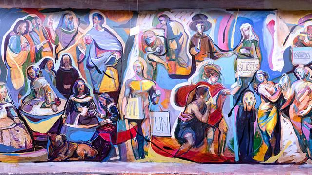 Pogledajte mural koji slavi povijest umjetnosti