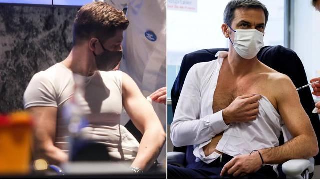 Ne pokazuje samo Marić mišiće: Francuski ministar zdravstva je privlačio poglede na cijepljenju