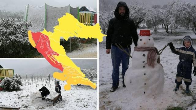 Na Visu rade snjegovića, crveni alarm upaljen za dio Hrvatske