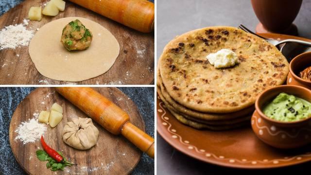 Paratha: Beskvasno indijsko pecivo koje se jede samo ili puni smjesom od krumpira i začinima