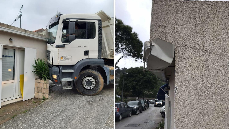 U Dubrovniku se kamion zabio u kuću, stanari bijesni: 'Srce će nam otkazati od svih stresova!'