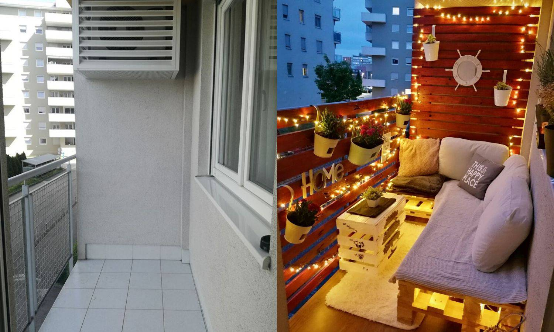 Čitatelj Dejan uredio je svoj balkon: Sada izgleda bajkovito