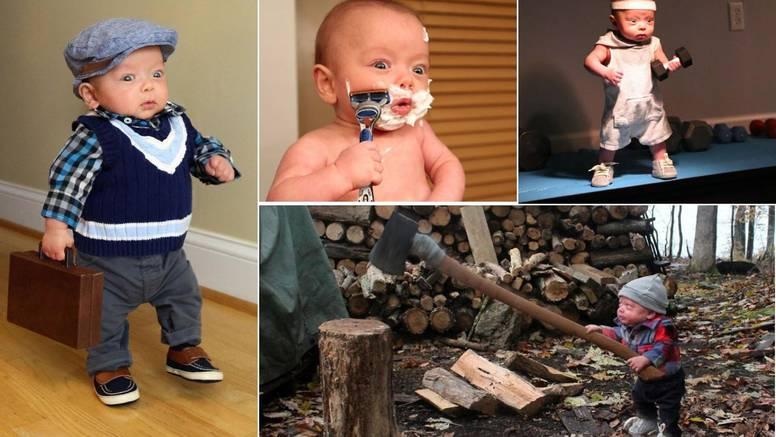 Njihov napredni prerano rođeni sin 'cijepa drva', 'kosi travu'...