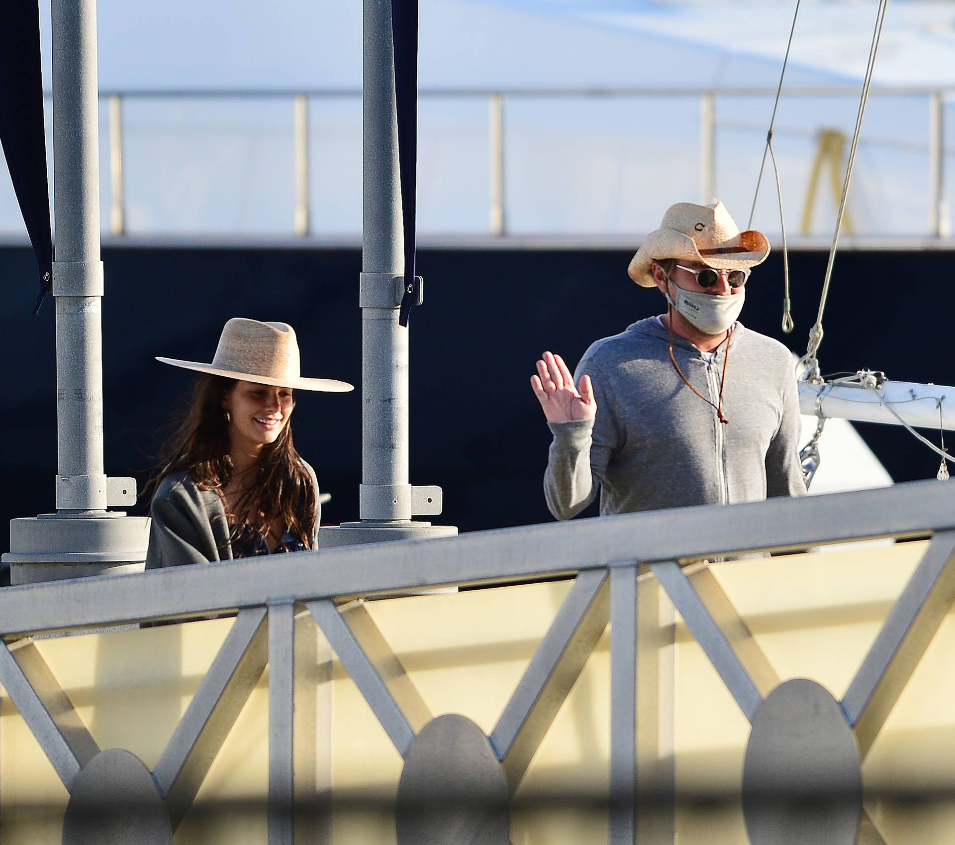 EXCLUSIVE: **PREMIUM RATES APPLY** Leonardo DiCaprio celebrates with his girlfriend Camila on a mega yacht for her Birthday