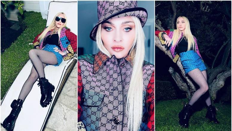 Madonna oduševljava figurom, ali dob teško prikriva šminkom